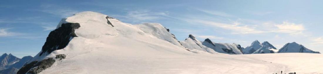 Breithorn, vista panoramica sul gruppo