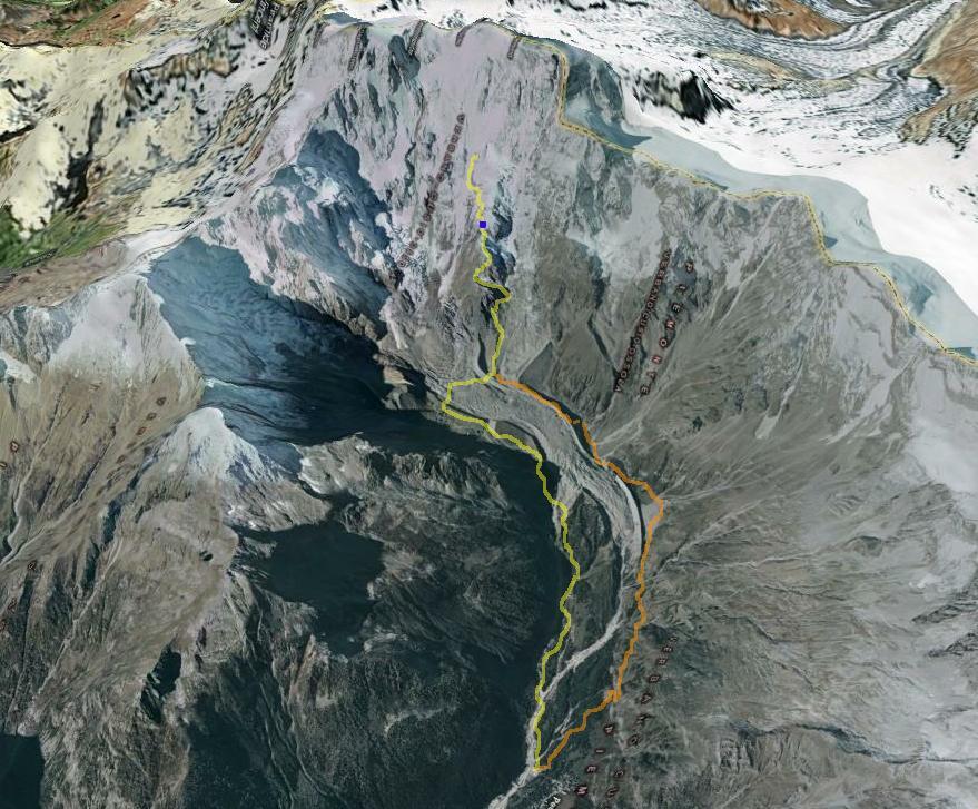 Mappa, Parete EST verso Macugnaga