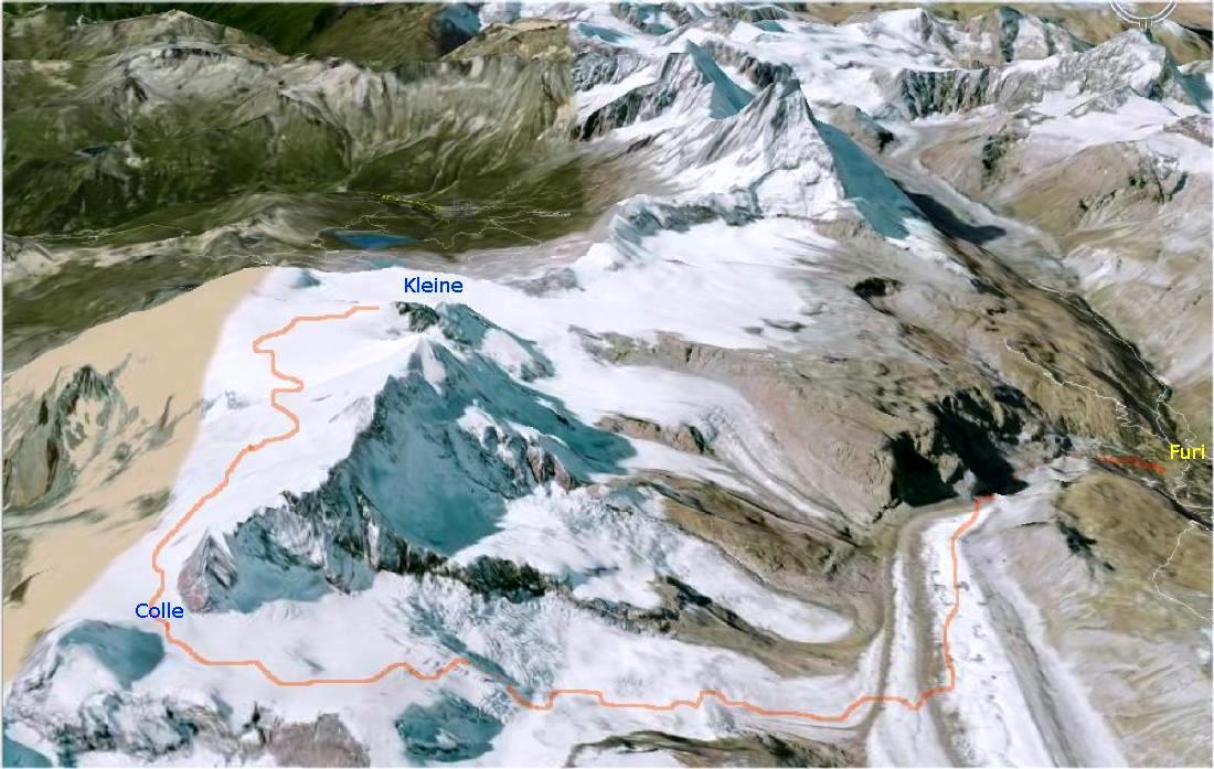 Mappa Colle Porta Nera