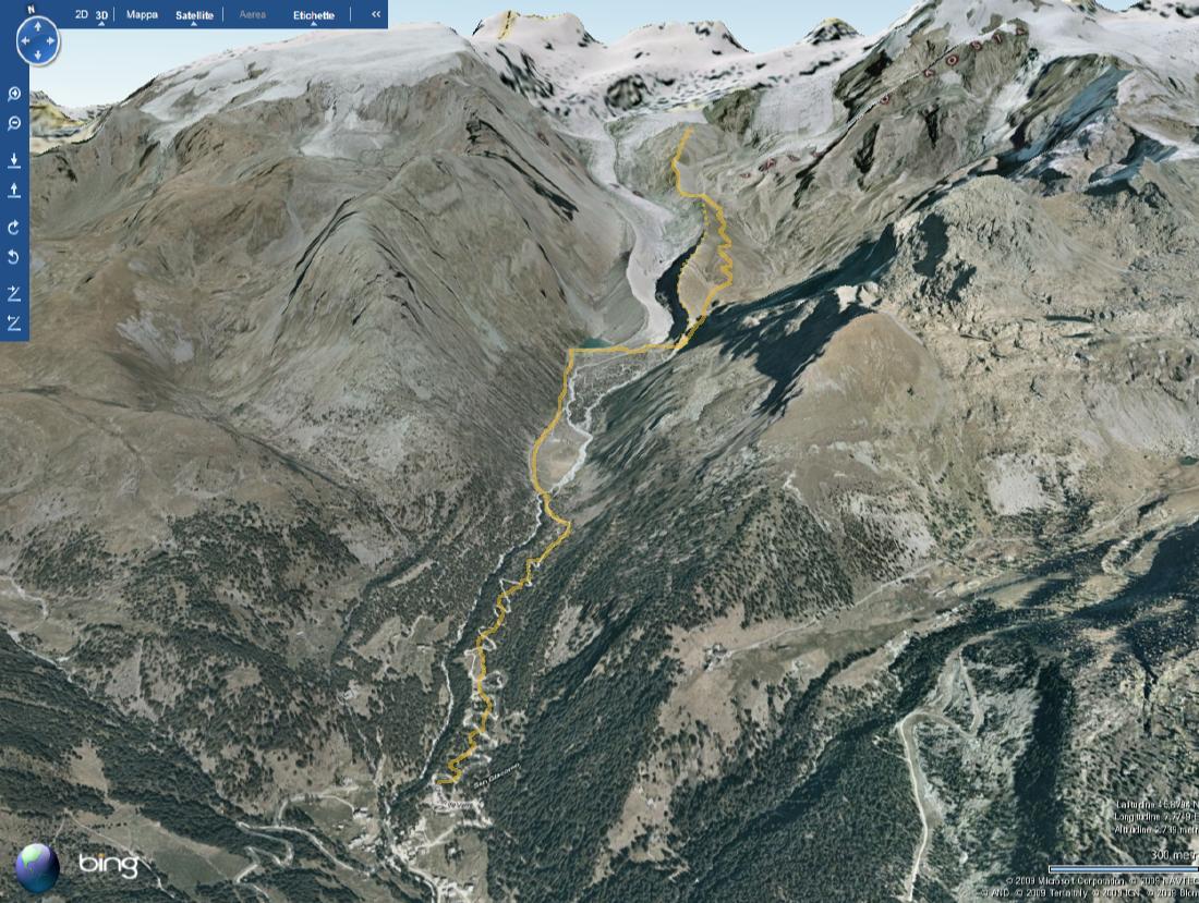 Mappa, Vallone della Verra